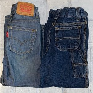 Lot of 2 Pairs of Toddler Boy Jeans
